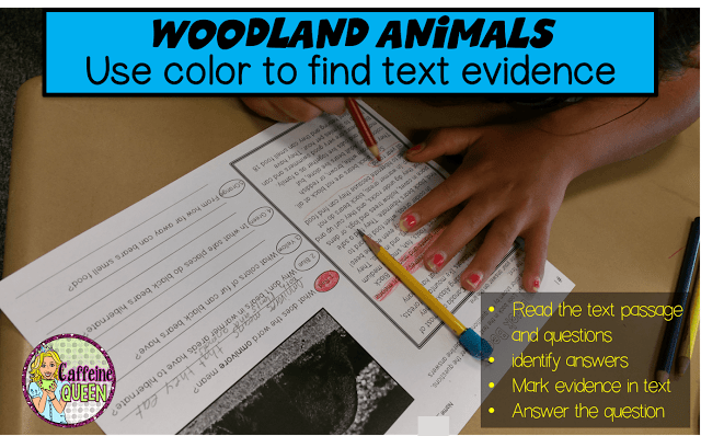 Students identify text evidence in nonfiction passages using these nonfiction passages