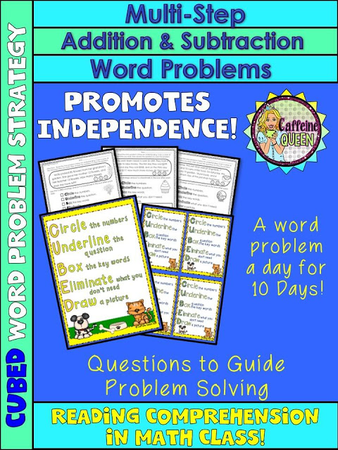 Word problem strategy helps with comprehension