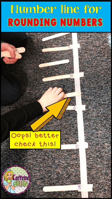 Rounding numbers is easier with life-sized number lines