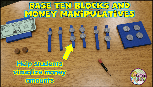 money manipulatives for money skills