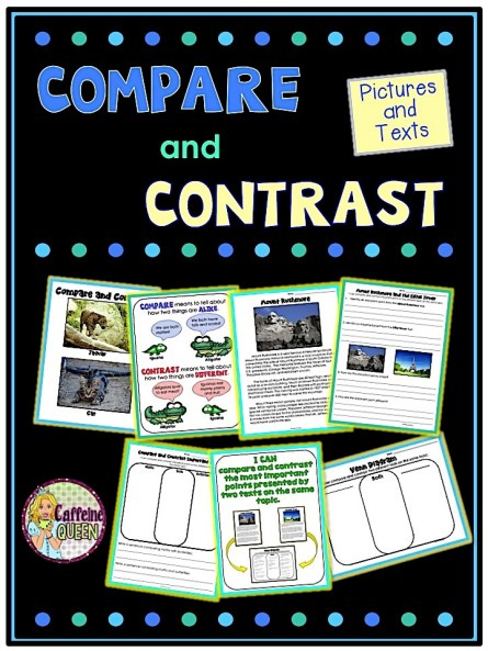 Students learn to compare and contrast pictures, then move on to comparing text articles - great test practice!