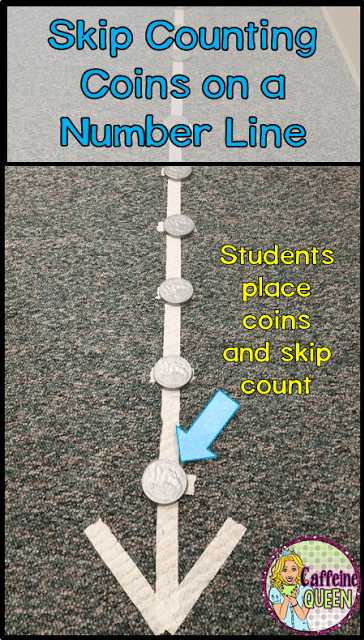 teaching money skills using a number line