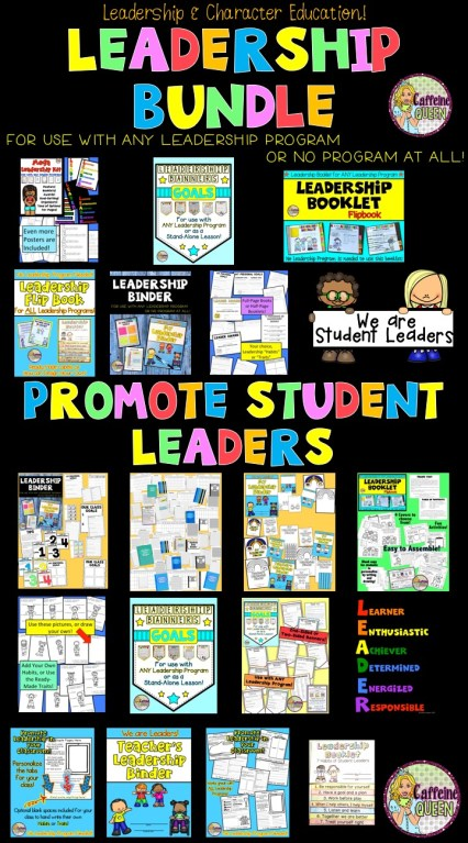Leadership bundle for student leaders works wonderfully with all student leader programs!