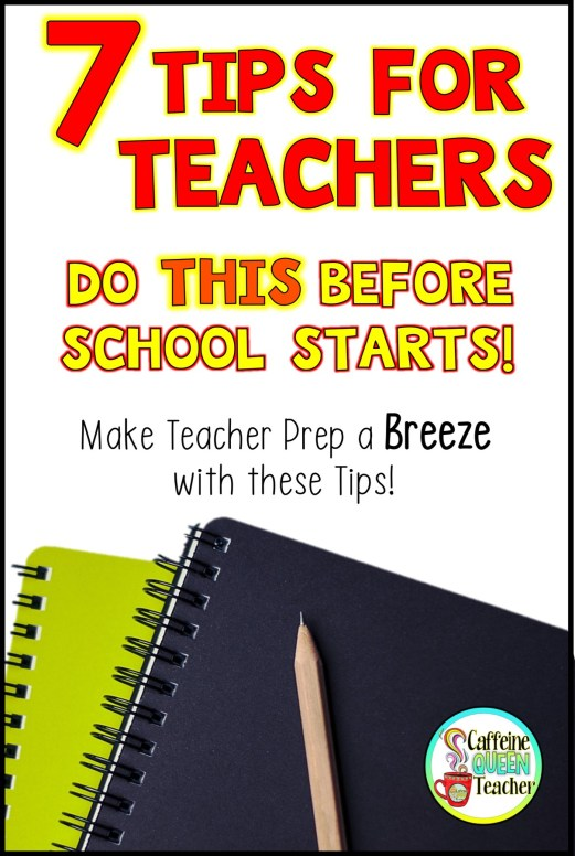 Back To School Teacher Tips to Jump Start Your School year!