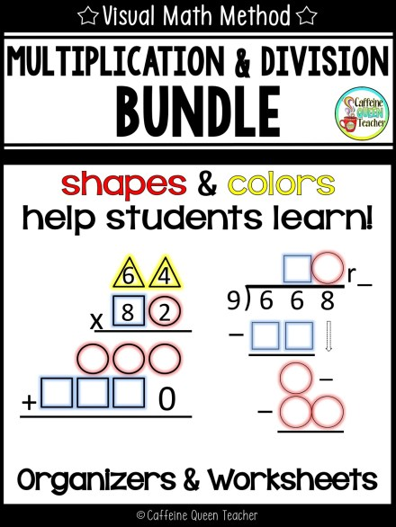 Visual strategy for helping students learn multiplication and long division