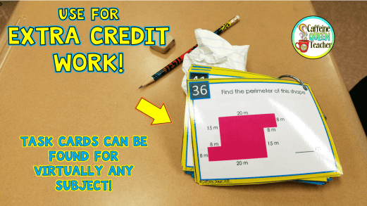 task cards make great extra credit work!