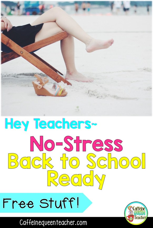 This No-Stress Guide offers strategies and tips for teachers getting back to school ready while still enjoying summer break!