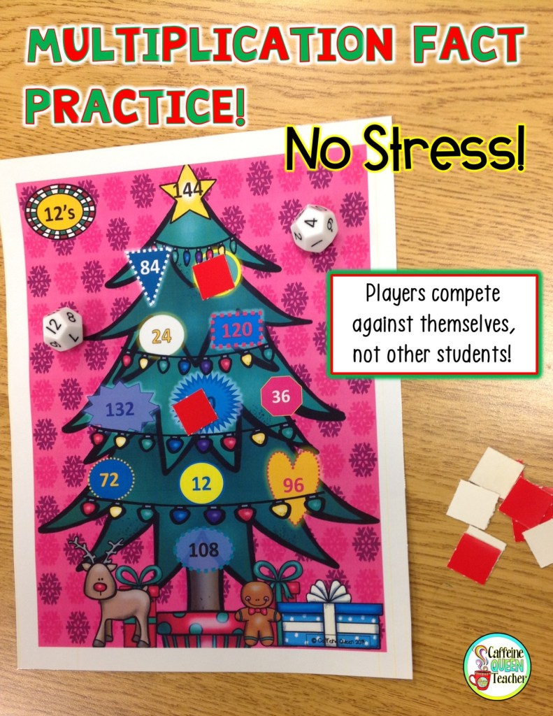 Multiplication Game for Christmas that Students Love!