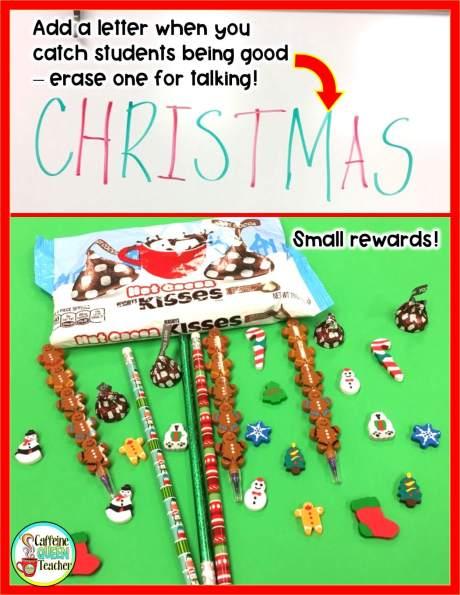 Small Christmas rewards and behavior plan idea