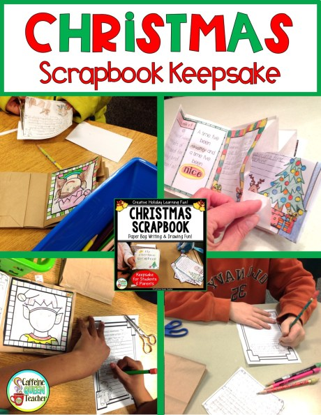 Christmas keepsake scrapbook is perfect for students to make as gifts