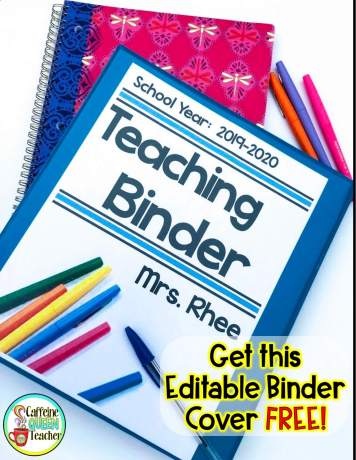 Free Teaching Organizational Forms Kit when you sign up for my newsletter