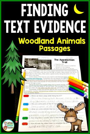 citing-text-evidence-reading-passages-woodland-black-pin