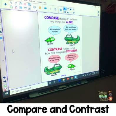 Teaching students how to compare and contrast