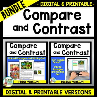 cover of Compare and Contrast Paired Passages Bundle on Teachers Pay Teachers