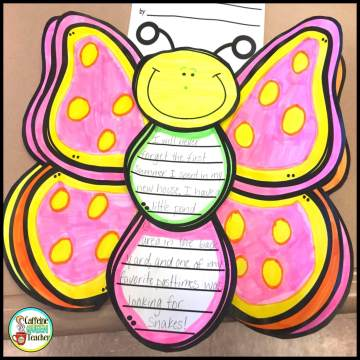 decorated story writing butterfly craft project for students