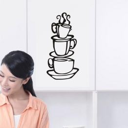 Cup Java SILHOUETTE Wall Decals, Vinyl Stickers Home Decor, Wall Paper, Kitchen Bedroom Decor