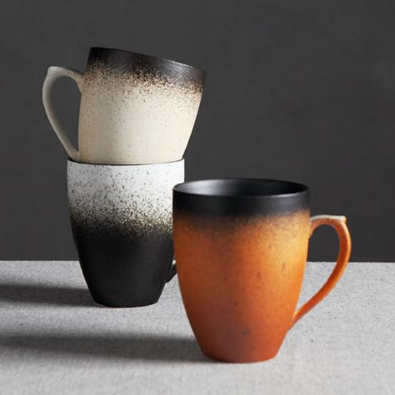 Hand-made Coffee Mugs - Vintage Ceramic Tea/Coffee Cup - Porcelain Cups & Mugs