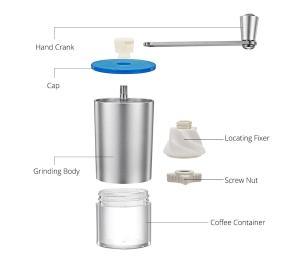 Mini Manual Coffee Grinder with Transparent Body Adjustable, Ceramic Millstone 6