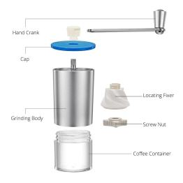 Mini Manual Coffee Grinder with Transparent Body Adjustable, Ceramic Millstone 6