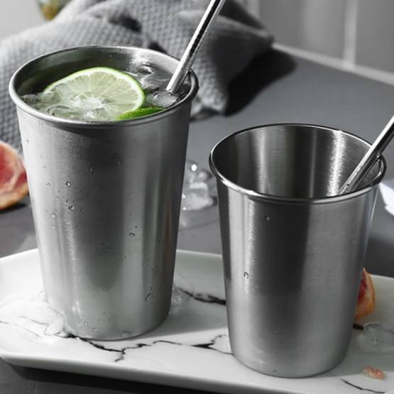 Stainless Steel Pint Cups - Durable Kids Cup Metal Tumblers