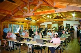 Alumni and Students Tour the New Zivnuska Hall