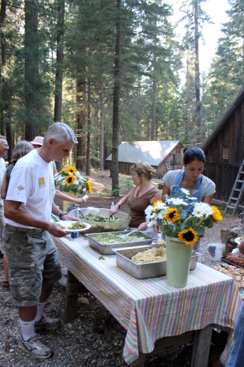 The Chow Line at Camp
