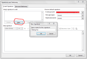 Setting Signature di Outlook 5