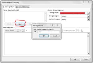 Setting Signature di Outlook 5