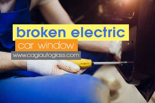 broken electric car window