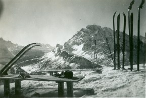 Rifugio Principe Umberto, at the Cime di Lavaredo, January 1936
