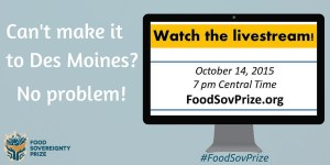 Food Sovereignty Prize Livestream Twitter post