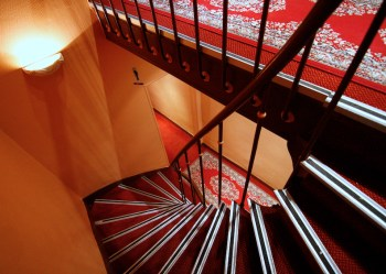 Stairway in the Hotel Herse d'Or