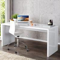 Schreibtisch SOHO Weiß Hochglanz 140cm