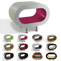 MADE in UK: Retro Lounge TV-Tisch LEO 60cm mit Füßen in 24389 Farbkombinationen!