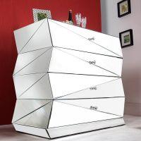 Sideboard FACETTO mit Facettenschliff & 27 Spiegelflächen 100cm