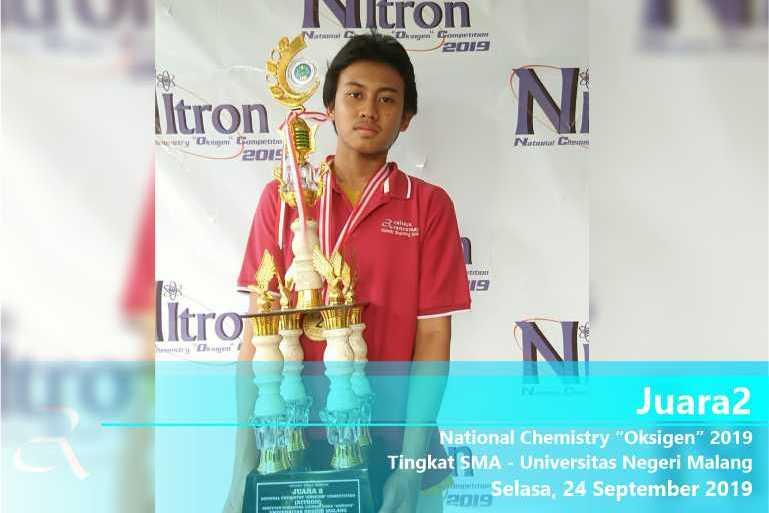 "Juara 2 – National Chemistry ""Oksigen"" 2019"