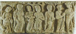 Cahiers de la Haute-Loire. Année 2011. Sarcophage du mariage de la Vierge. Le Puy, musée Crozatier.