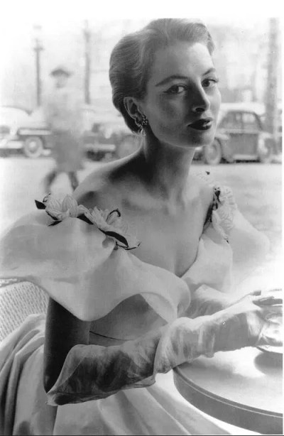 1952 Capucine in a gown by Givenchy