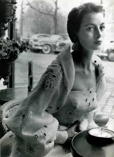 Capucine in Givenchy, 1950s