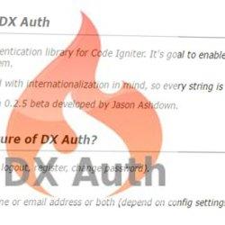 Codeigniter DX Auth