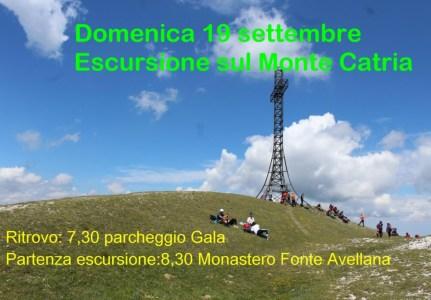 Domenica 19 settembre Escursione sul Monte Catria