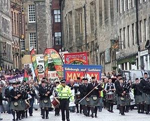 Edinburgh May Day march