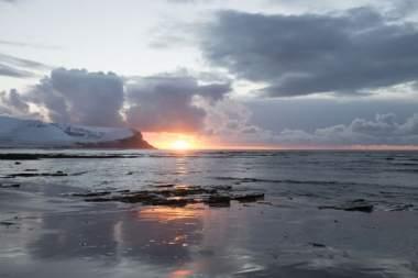 Warebeatih Beach Orkney, In winter.