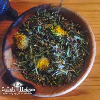Herbal spring tonic tea Cailleachs herbarium