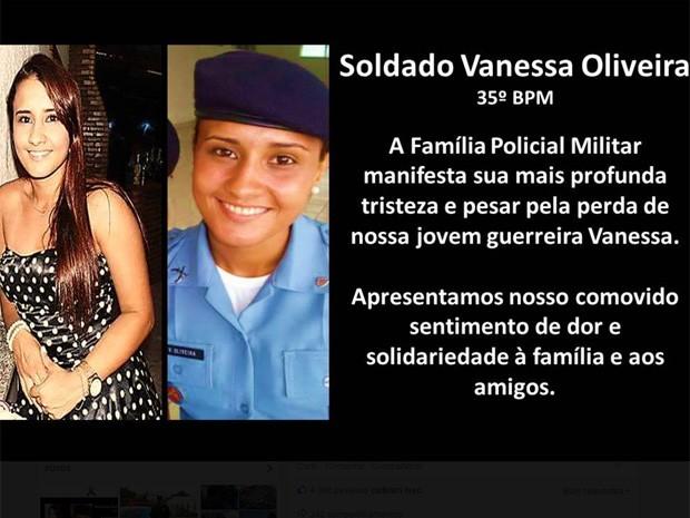 Facebook da PMERJ faz homenagem a policial que morreu em São Gonçalo (Foto: Reprodução/Internet)