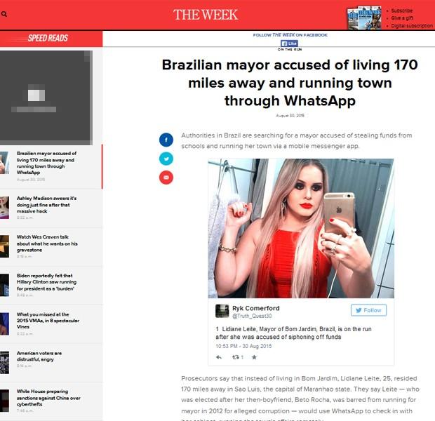 The Week americana destaca busca à prefeita no Maranhão