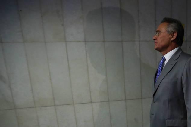 Renan Calheiros, no Senado. Foto: POZZEBOM/AG. BRASIL