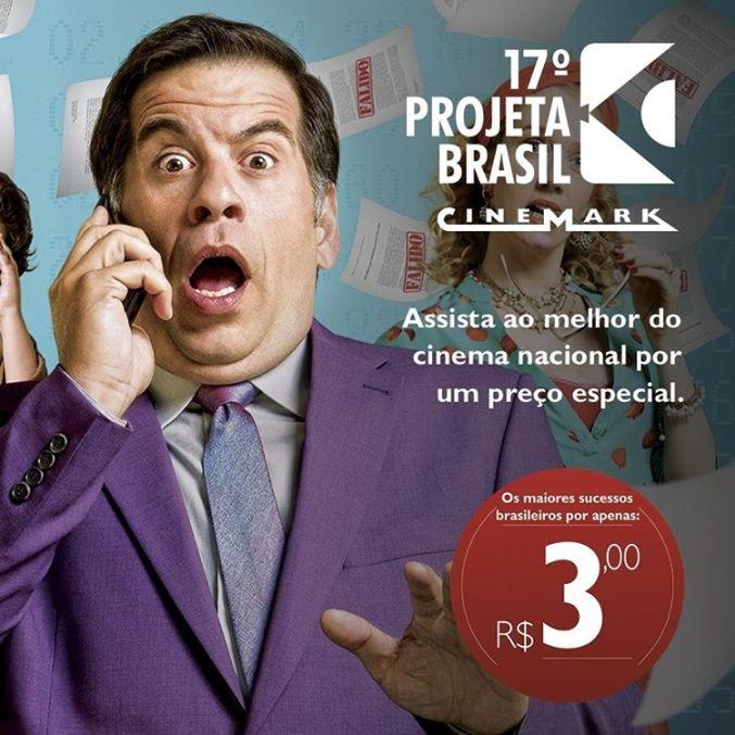 O 17º Projeta Brasil traz filmes de todos os gêneros e para todas as idades. Imagem: Cinemark/Reprodução