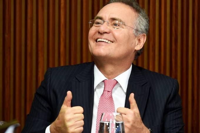 Renan não assina notificação de afastamento Foto: VEJA/Reprodução