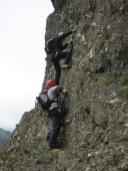 In salita verso la cima della Biurca